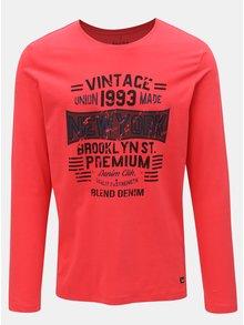 Červené regular tričko s dlhým rukávom Blend