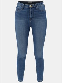 Modré skinny džíny s vysokým pasem Miss Selfridge