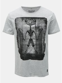 Sivé regular melírované tričko Blend