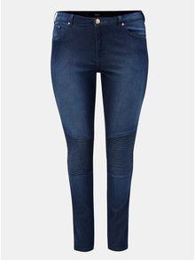 Tmavě modré slim džíny s vysokým pasem Zizzi