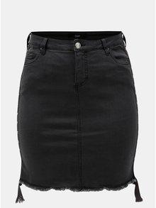 Tmavě šedá pouzdrová džínová sukně Zizzi