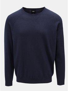 Pulover albastru inchis cu decolteu rotund Burton Menswear London