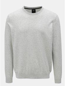 Sivý melírovaný sveter Burtom Menswear London
