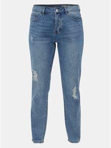 Modré skinny džíny s vysokým pasem a potrhaným efektem VERO MODA Sophia
