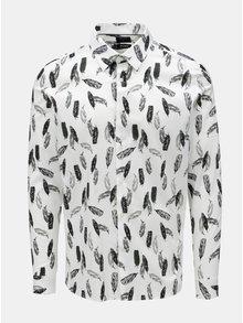 Camasa skinny alba cu model Burton Menswear London