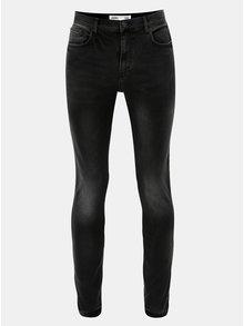Tmavě šedé skinny džíny s vyšisovaným efektem Burton Menswear London