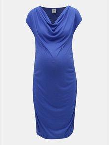 Modré těhotenské pouzdrové šaty Mama.licious