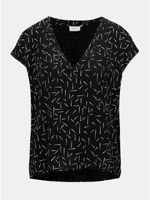 Bluza neagra cu model Jacqueline de Yong Esther