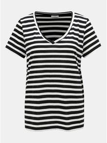 Bílo-černé pruhované tričko Jacqueline de Yong Cloudy