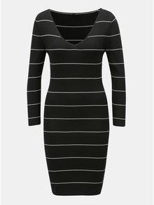 Čierne vzorované svetrové šaty ONLY Galanty