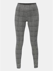 Šedo-černé vzorované kalhoty s elastickým pasem ONLY Selma