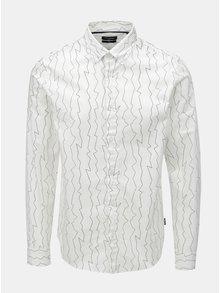 67b01ed089ba Biela vzorovaná slim košeľa ONLY   SONS Omar