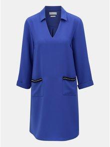 Rochie albastra cu buzunare si maneci 3/4  Rich & Royal