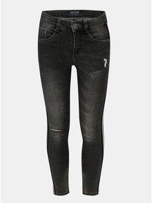 Tmavě šedé holčičí džíny s pruhem na nohavicích Blue Seven