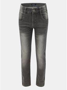Šedé klučičí džíny s vyšisovaným efektem Blue Seven
