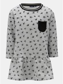 Šedé mikinové šaty s potiskem hvězd Blue Seven