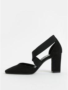 Černé sandálky v semišové úpravě s gumou OJJU