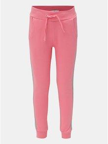Šedo-růžové holčičí tepláky Name it Mari