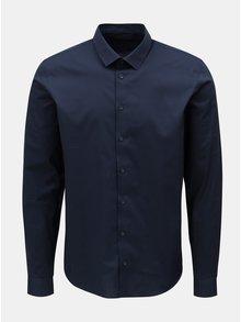 Camasa albastru inchis slim fit Casual Friday by Blend