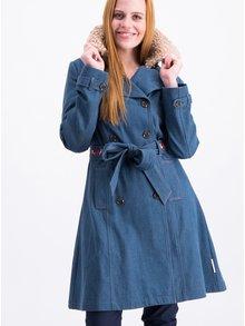 Modrý kabát s umělým kožíškem Blutsgeschwister