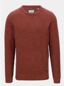 Hnedý bavlnený sveter Shine Original