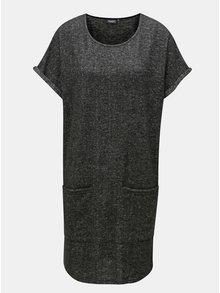 Tmavě šedé žíhané svetrové šaty Broadway Geralyn