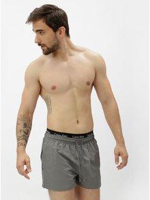 Pantaloni scurti de baie gri cu talie elastica si logo- Calvin Klein