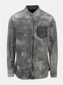 4846af261059 Tmavosivá košeľa s vyšúchaným efektom Shine Original