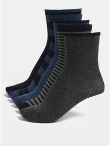Sada pěti párů klučičích ponožek v modré, zelené a šedé barvě Name it Melange