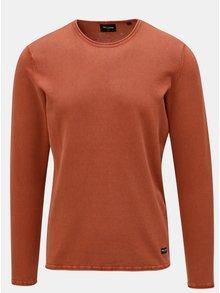 Tehlový tenký sveter ONLY & SONS