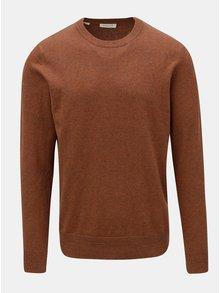 Hnedý melírovaný sveter Selected Homme