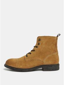 Hnědé semišové kotníkové boty Selected Homme