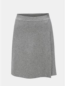 Šedá sukně  s překládanou přední částí Noisy May