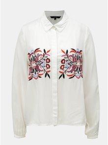 Bílá košile s výšivkou VERO MODA Wendy