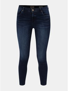 Tmavě modré zkrácené skinny džíny s push up efektem ONLY