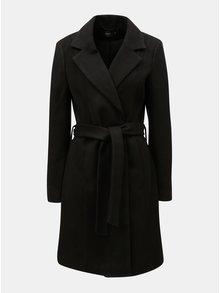 Černý kabát na zavazování ONLY
