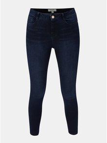 Tmavě modré skinny džíny s vysokým pasem Dorothy Perkins Petite