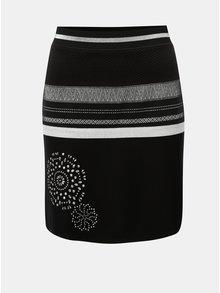 Černá sukně s detaily ve stříbrné barvě Desigual Jana