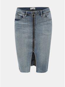 Světle modrá pouzdrová džínová sukně se zipem Blendshe Rana
