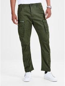 Khaki anti fit kalhoty s kapsami Jack & Jones Drake
