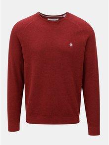 Červený sveter s okrúhlym výstrihom Original Penguin