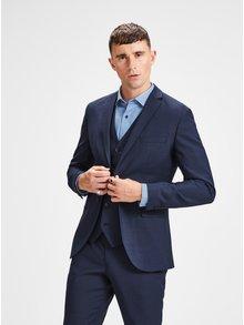 Tmavě modré oblekové sako s příměsí vlny Jack & Jones Laris