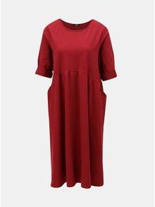 Vínové oversize šaty s volánem ZOOT