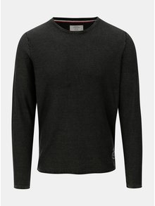 Čierny tenký sveter Jack & Jones Laundry