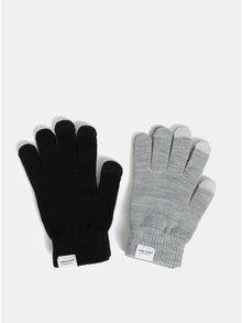 Sada dvou párů rukavic v šedé a černé barvě VERO MODA Vilde