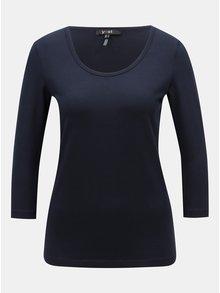 Tmavě modré basic tričko s 3/4 rukávem Yest