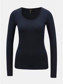 Tmavě modré basic tričko s dlouhým rukávem Yest