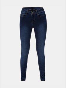 Modré push up slim džíny s vyšisovaným efektem Yest