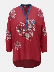 Bluza cu print si maneci 3/4 Desigual Temis