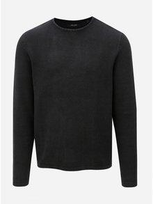 Tmavosivý sveter s okrúhlym výstrihom ONLY & SONS Hugh
